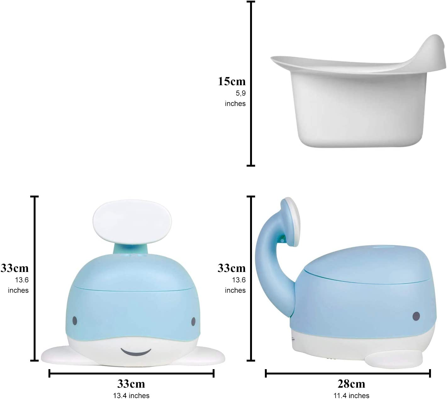 Pink YAKEEN WC Kids Baby Potty Training seat Whale Potty Toilet Pot for Babies Travel Toilet Seats for Girls and Boys Childrens Potty Chair Pastel Color