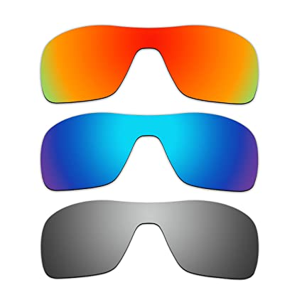 424ed5f53f Amazon.com   ACOMPATIBLE 3 Pair Replacement Polarized Lenses for Oakley  Turbine Rotor Sunglasses OO9307 Pack P3   Sports   Outdoors