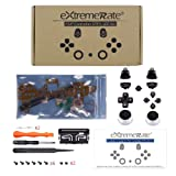 eXtremeRate Multi-Colors Luminated D-pad Thumbstick L1 R1 R2 L2 Home Face Buttons DTFS (DTF 2.0) LED Kit for PS4 CUH-ZCT2 Controller with Classical Symbols Buttons - 10 Colors Modes 7 Areas DIY Option