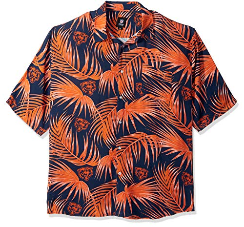 (NFL Mens Floral Shirt: Chicago Bears, x Large)