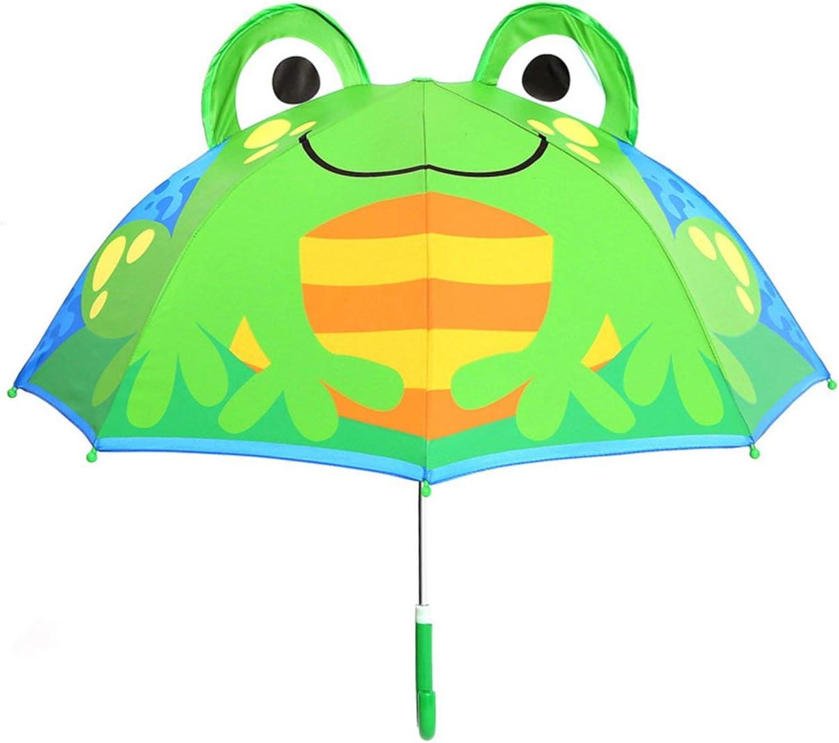 Couleur: Multicolore m/élang/é MachinYesell L/éger Dessin Anim/é Mignon Design Enfants Gar/çons Filles Parapluie R/ésistant au Vent UV Prot/éger Voyage Rain Parapluie Soleil