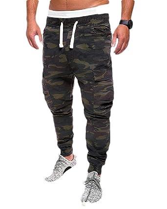 securiuu Pantalones de chándal para Hombre, Casuales, de Forro ...