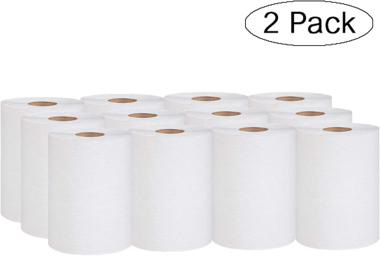 Case of 12 Rolls for Universal Paper Towel Dispenser Green Seal Certified P700B 100/% Recycled 350 Length x 7.87 Width white, Fivе Расk Marcal Pro Hardwound Paper Towel Roll