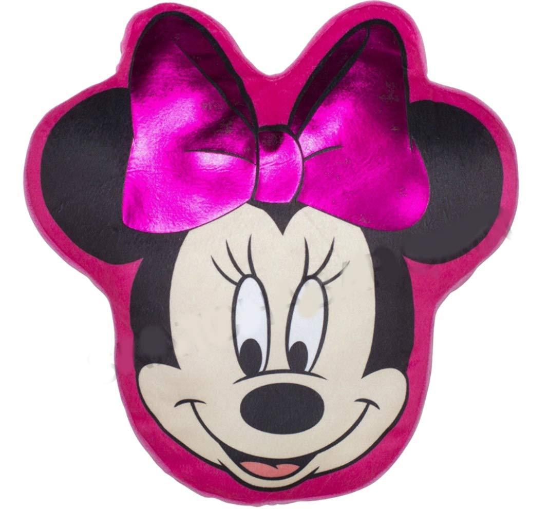 BV VB Officiel Minnie Mouse Tê te en Forme de Coussin en Peluche/Oreiller Doudou –  Rose Character World