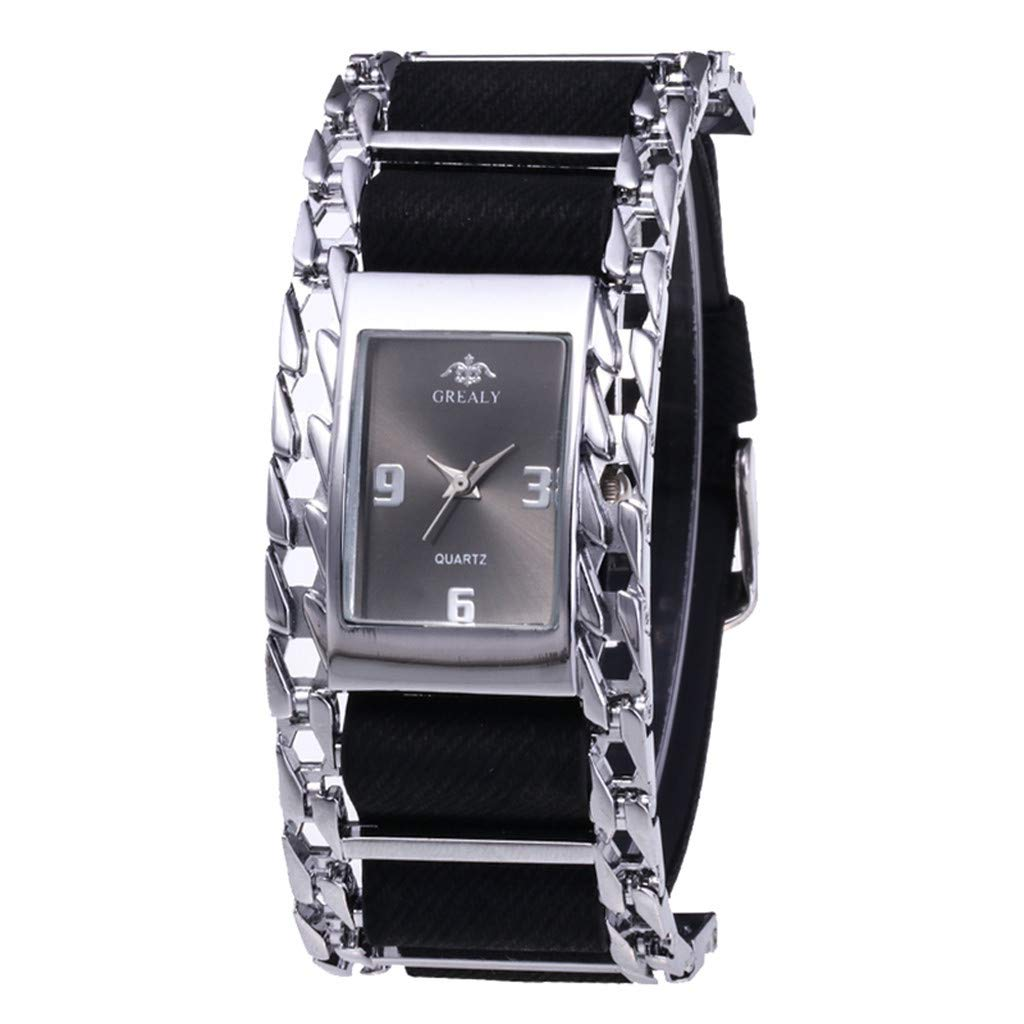 Watches for Women on Sale Clearance,Fashion Ladies Stainless Steel Case Wristwatch Clock(C) by Woaills Watch