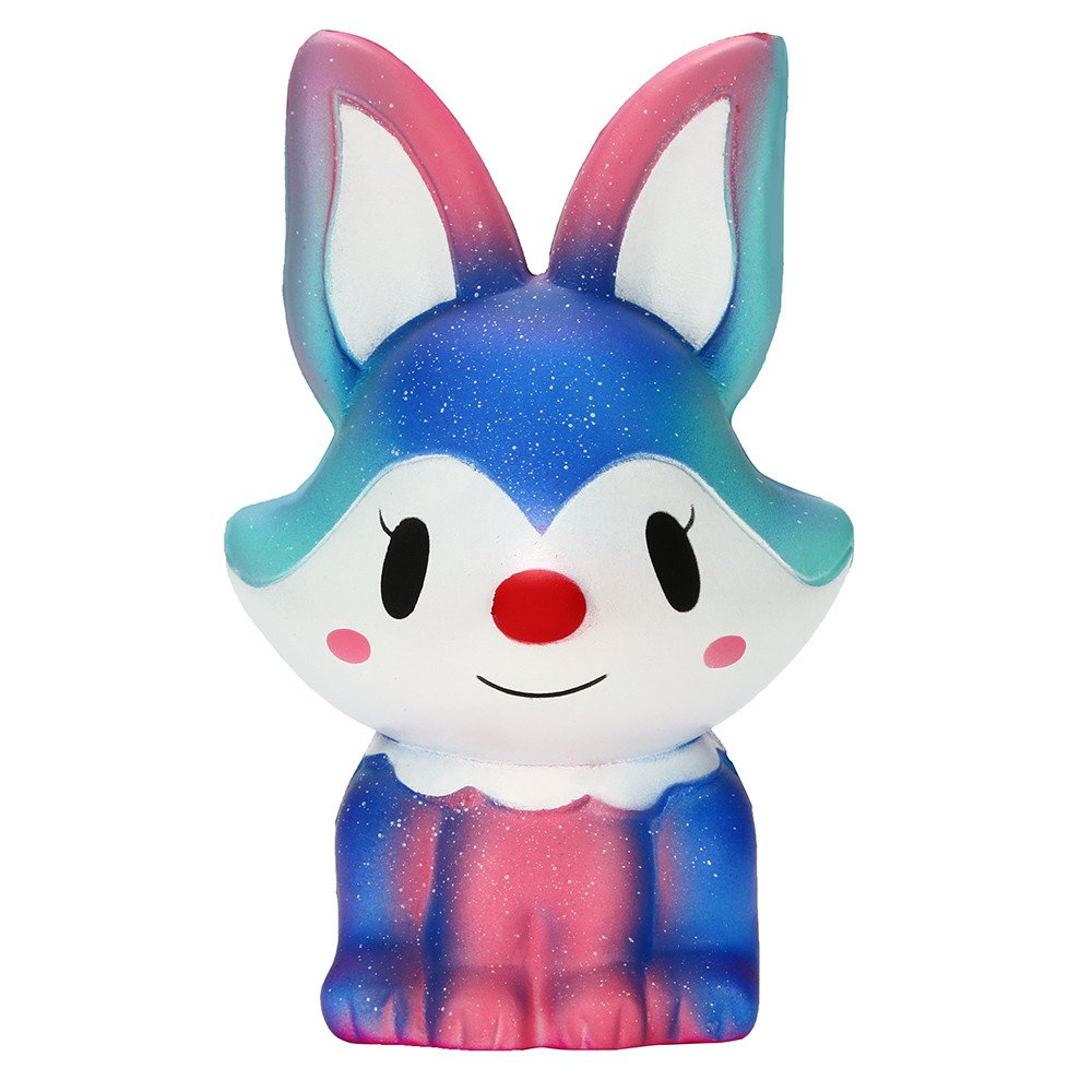 IAMUP Kids Adorable Galaxy Fox Charm Super Slow Rising Squeeze Pressure Stress Reliever Best Gifts for Girls Toy