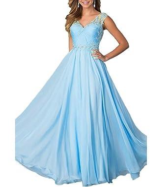 Elegant V Ausschnitt Abendkleider Für Damen Hochzeit Carnivalprom 4AjL35R