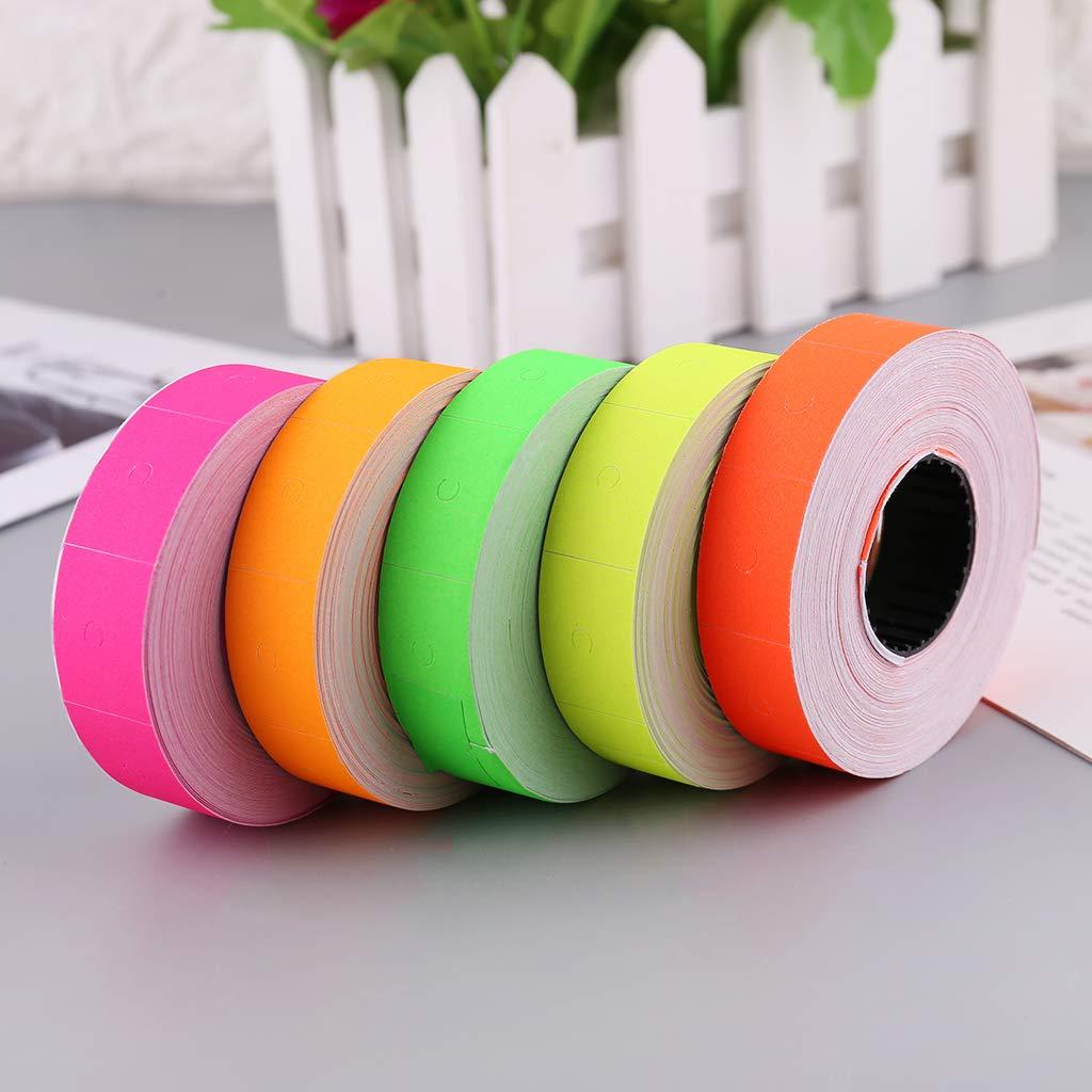 10 rotoli di 5000 etichette colorate a doppia fila per etichettatrice MX-6600