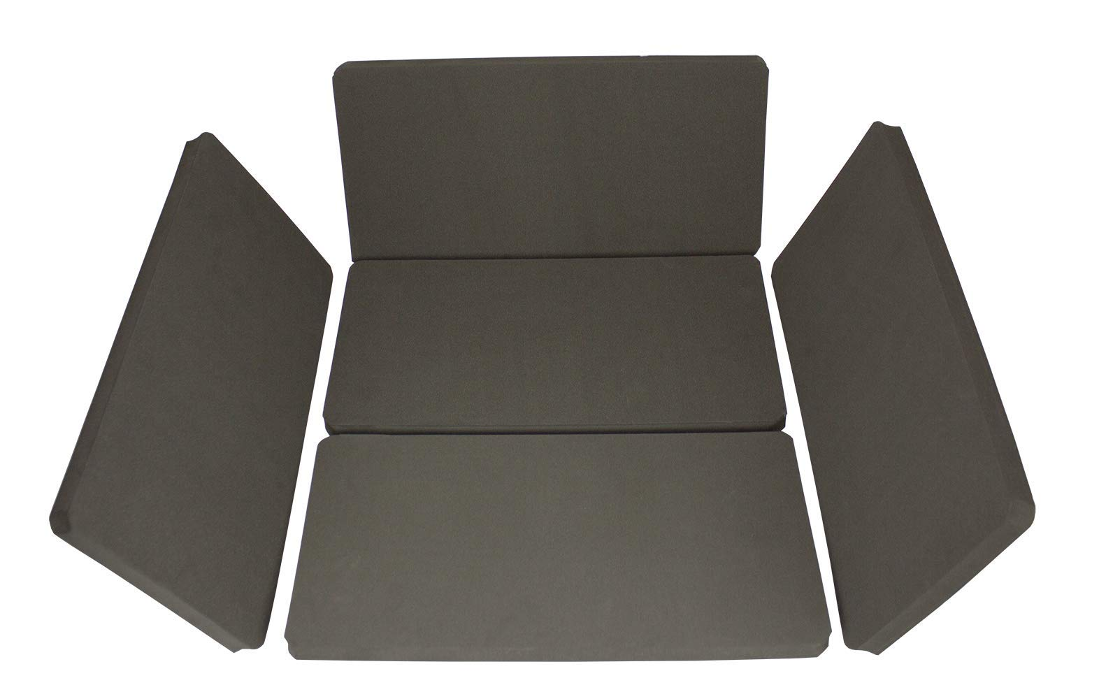 Global Safety 5 Pack Foam CPR Floor Mat with Convenient Carry Bag to Reduce Back and Knee Pain, 15.5'' x 8'' x 0.75''