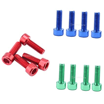 BICYCLE RED ANODIZED WATER BOTTLE CAGE ALLEN BOLTS NEW