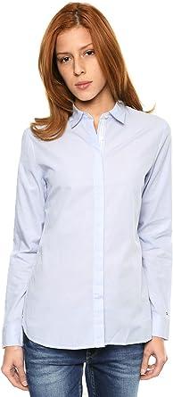 Tommy Hilfiger WW0WW10502, Camisa Para Mujer, Azul (Lily Prt ...