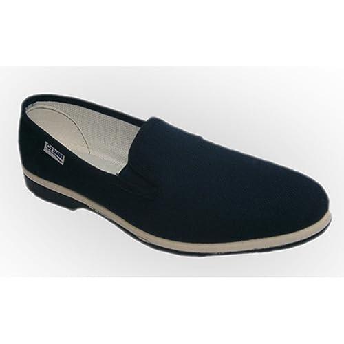 Zapatillas lona con gomas a los lados Cruan en azul marino talla 42: Amazon.es: Zapatos y complementos