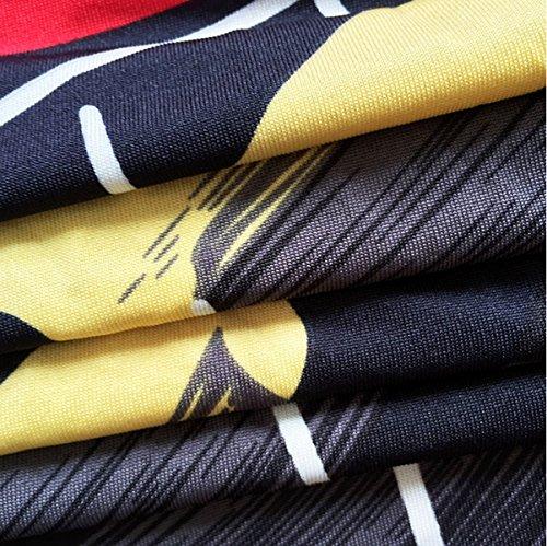 Las Mujeres Del Vestido De La Playa De La Cintura Falda Colorida Impresa Crecen Lapso Black