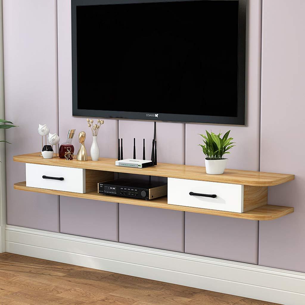 フローティングシェルフ 現代のフローティングテレビ棚テレビスタンドボードラックテレビキャビネットメディアコンソール壁掛けオーディオ/ビデオコンソール用ケーブルボックスルーターリモコンDVDプレーヤーゲーム機 (Color : D, Size : 120cm) B07SW3VKSV D 120cm