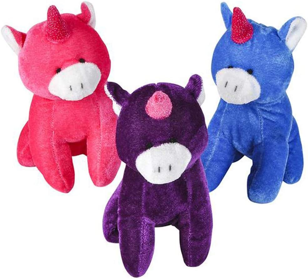 Pack of 3 Sparkle Unicorn Plushies in 3 Assorted Colors Mini 6 Inch Unicorn Toys for Toddlers and Little Girls ArtCreativity Plush Unicorn Stuffed Animal Toys Best Gift and Birthday Party Favors