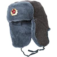 Russian Army Ushanka Authentic Winter Hat Soviet USSR Army Soldier Red Star WW2