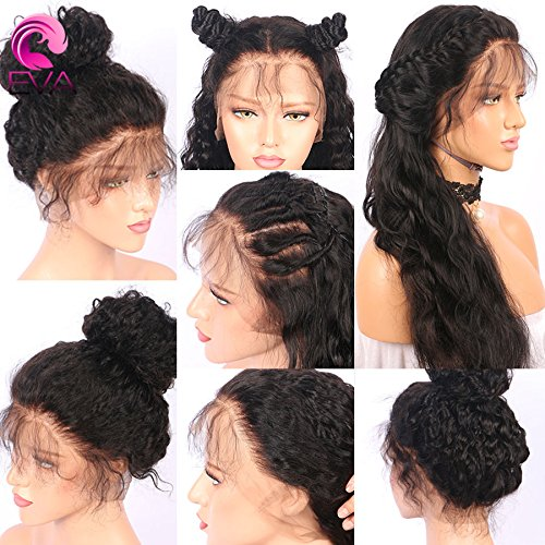 13x6 Lace Front Human Hair Wigs for Black Women Pre plucked Brazilian Virgin Hair 150 density Lace Front Wig Glueless Body Wave Front Lace Wigs with Baby Hair (14 Inch,150 density,13x6 Lace Front Wig) by EVA HAIR (Image #7)