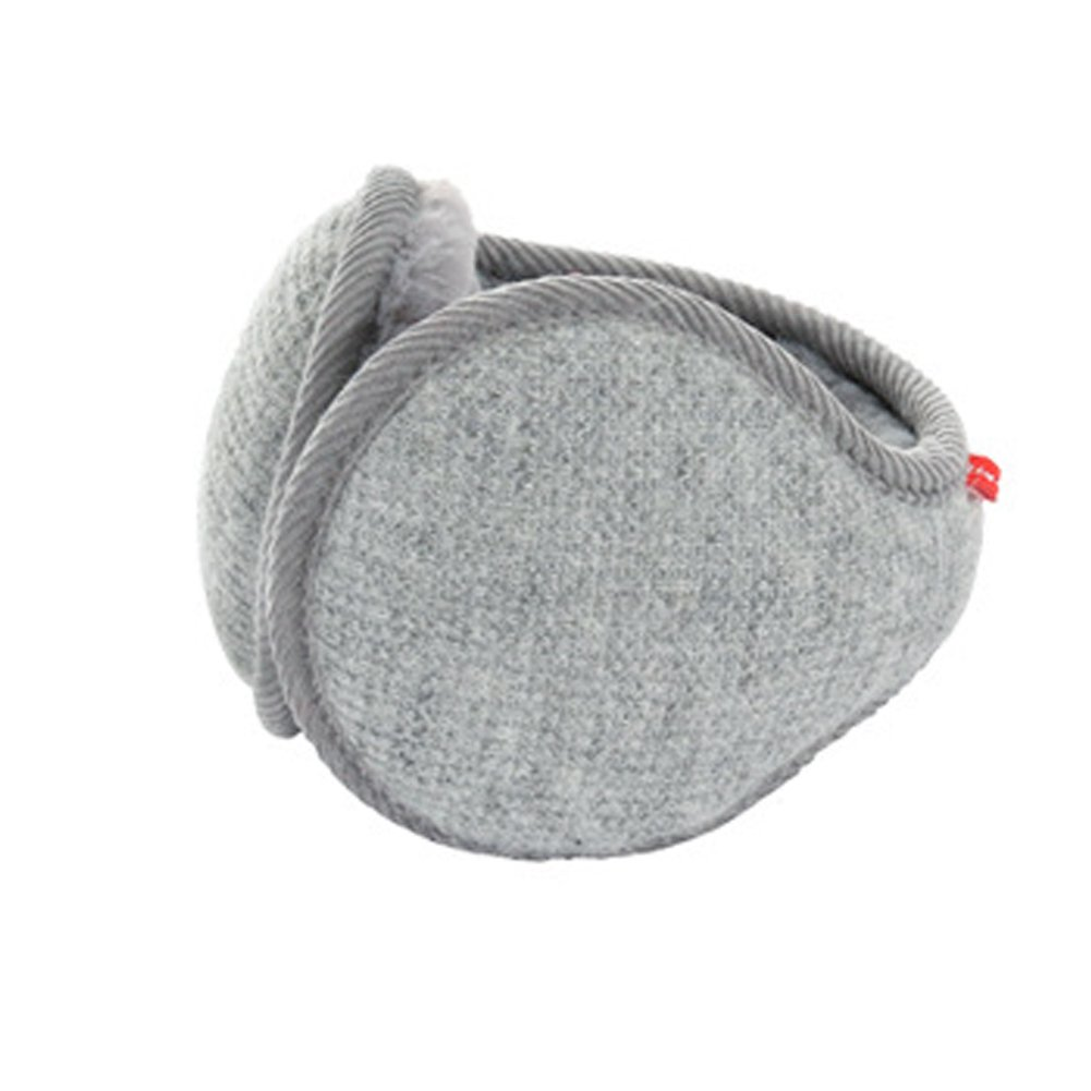 Unisex Winter Knit Grid Outdoor Earmuffs Adjustable Warm Cashmere Ear Wamer EZ006