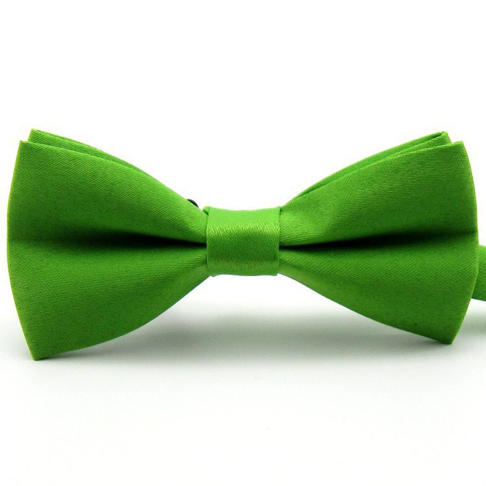 Solid Color Tuxedo Bow Ties for Boys 5 Pcs