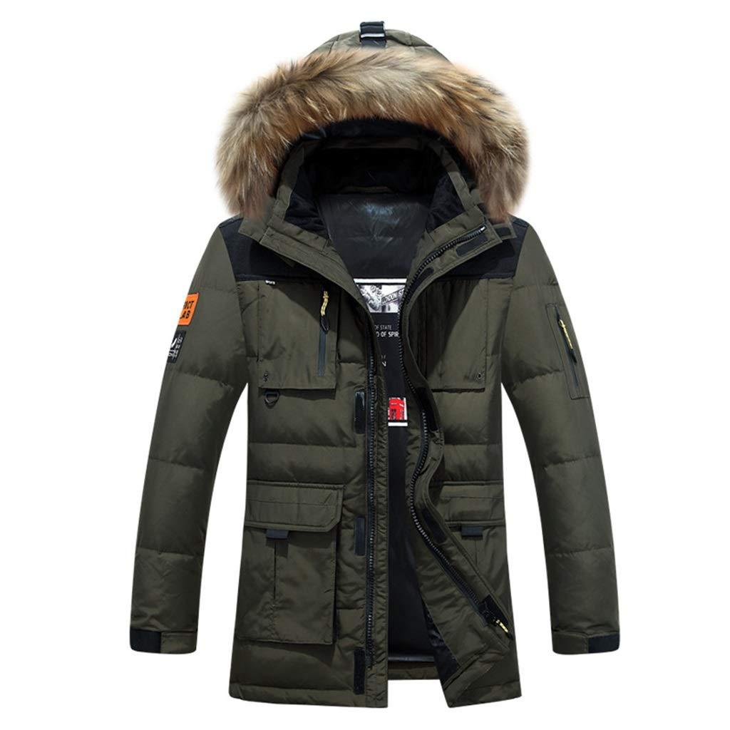 Herren Daunenjacke Lange Dicke warme Kapuzenjacken Draussen Sport Mantel Winterkleidung, 3 Farben erhältlich