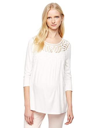 02b8570cbb831 Daniel Rainn Lace Maternity Shirt at Amazon Women's Clothing store: