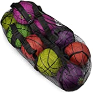 """Crown Sporting Goods 39"""" Mesh Sports Ball Bag with Adjustable Shoulder Strap, Oversize Duffle - Great for"""