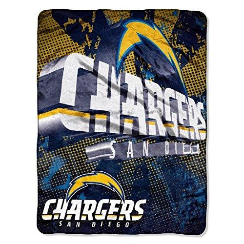 - NFL San Diego Chargers 46-Inch-by-60-Inch Micro-Raschel Blanket, Grunge Design