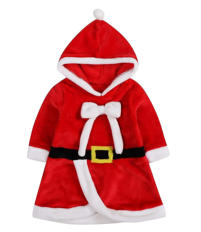 Le SSara Navidad beb/é Cosplay Vestido Traje reci/én Nacido Vestuario con Capucha Falda