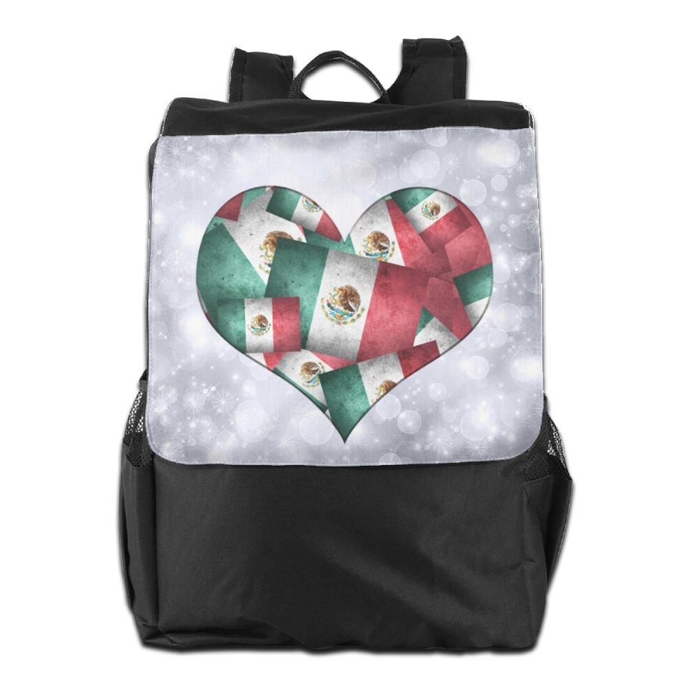 Arsmt メキシコ国旗 アウトドアバックパック リュックサック トラベルバッグ One Size Black 11 B07K8M9MBV
