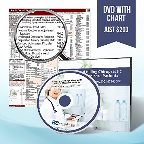 Training DVD - Coding and Billing Chiropractic Visits for Medicare Patients with 2016 ICD-10 Chiropractic (Mcs Package)