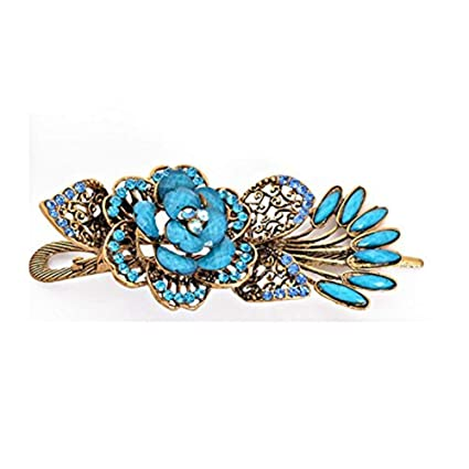 Lovely Vintage Jewelry Crystal Peacock Hair Clips Hairpins For Hair Clip Be EL