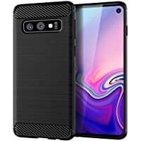 "Rugged Armor Galaxy S10E 5.8"" inch Case with Flexible and Durable Shock Absorption with Carbon Fiber Design Hybrid Case Cover for Samsung Galaxy S10 E (2019) (Black)"