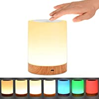 Etmury Bedside Lamp,Child LED Night Light with Rechargeable USB Touch Control and RGB Color Change Dimmable Table Lamp…