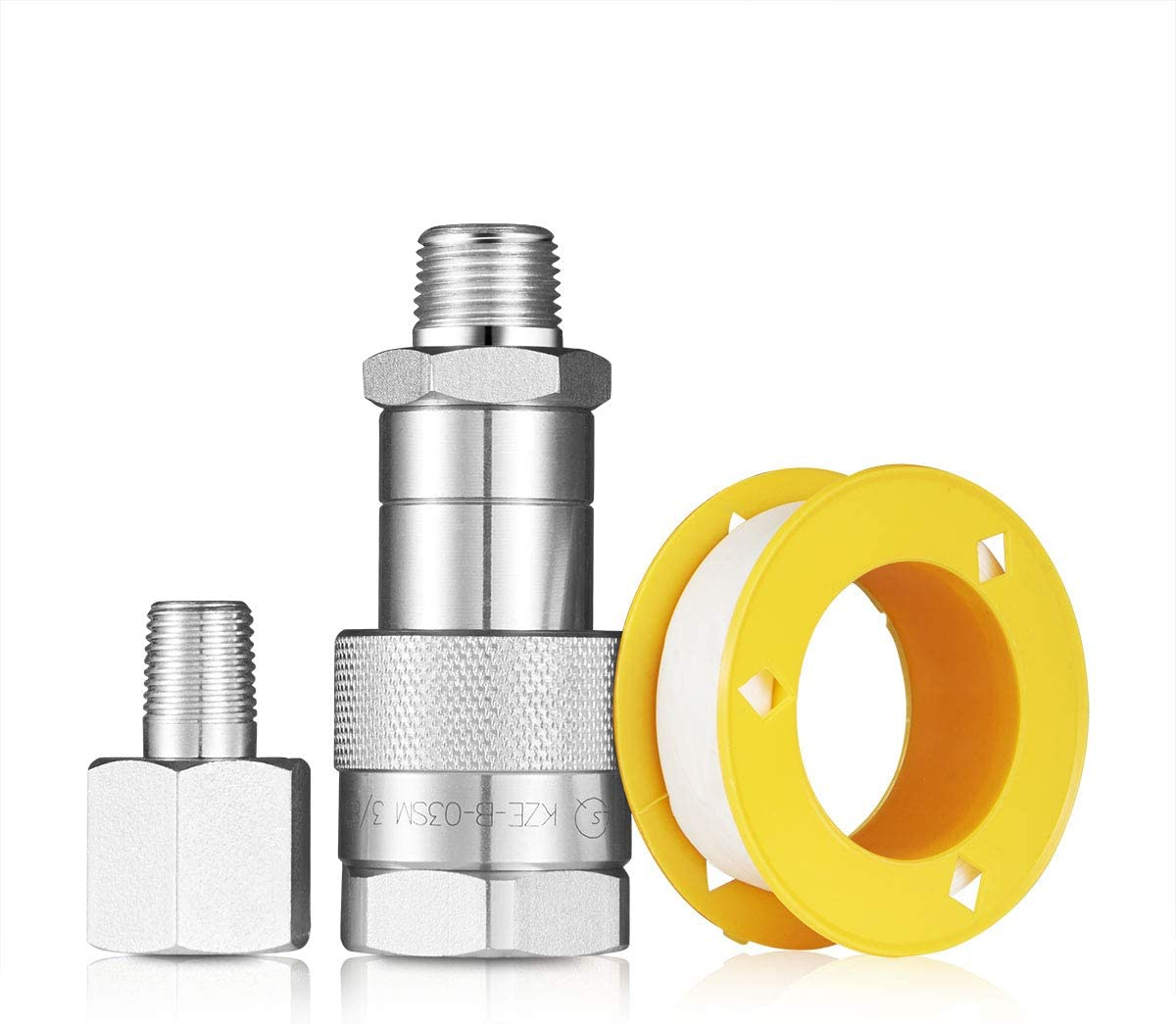 3//8 Coupler Reducer Kit Used for Connecting NPT 3//8 Couplers Hydraulic Pump with NPT 1//4 Couplers Heat Press