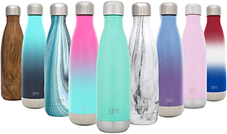 Simple Modern Wave 250ml Botella De Agua - Acero Inoxidable 18/8, Doble Pared