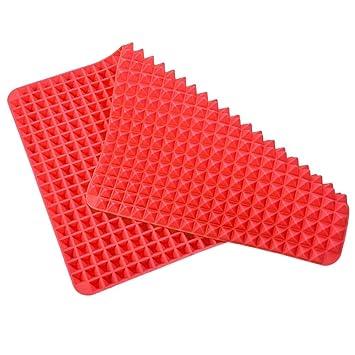 Pyramid - Juego de 2 moldes de silicona antiadherentes para horno: Amazon.es: Hogar