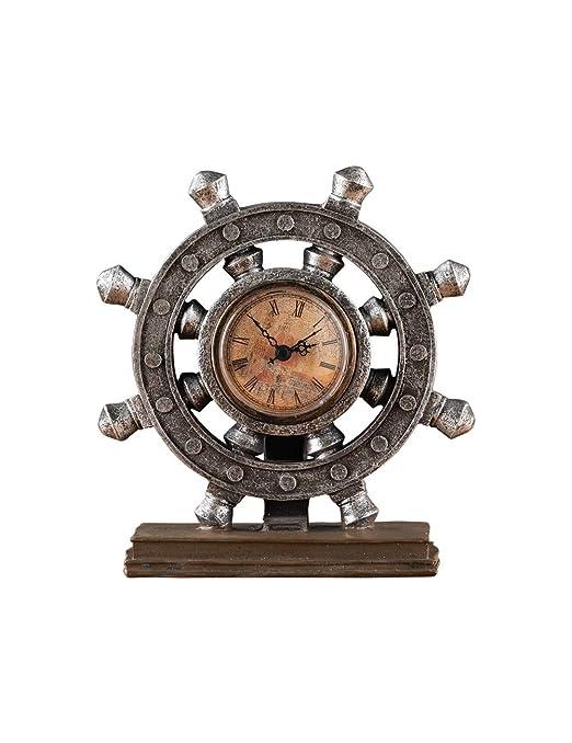 Fonly Decoración única del Reloj de la Mesa del timón del Vintage ...