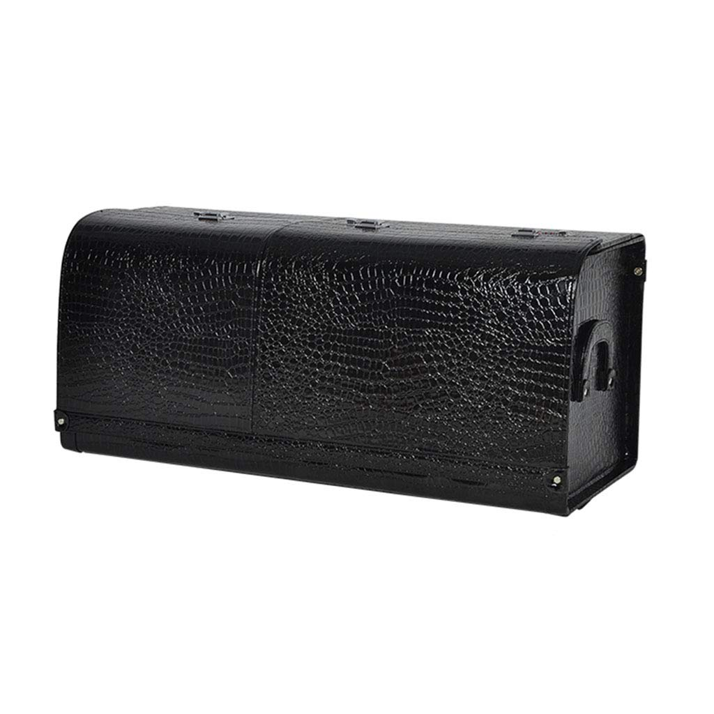 Car Storage Box Multi-Function car Storage Box with Password Settings High-Grade Leather (Color : Black, Size : 803335cm)