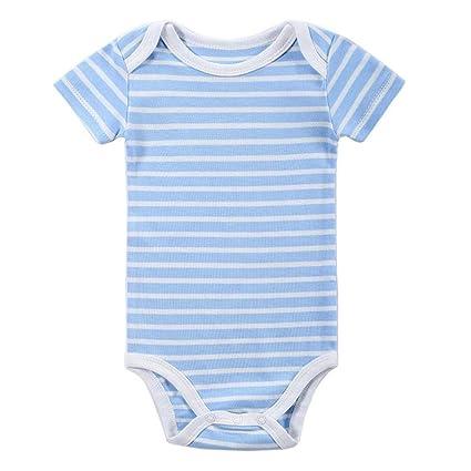 3b45ec39fa4a Amazon.com  Sleepsuits Newborn Infant Baby Boys Girls Striped Romper ...
