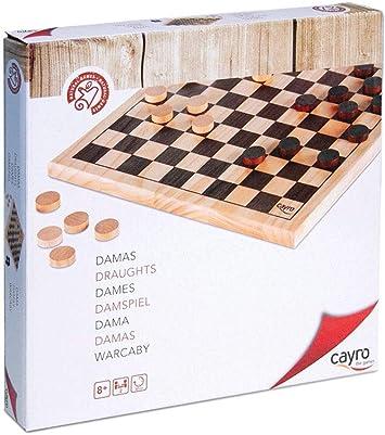 Cayro - Damas 10 x 10 - Juego de Mesa Tradicional - Juego para niños - Juego de Mesa (634): Amazon.es: Juguetes y juegos