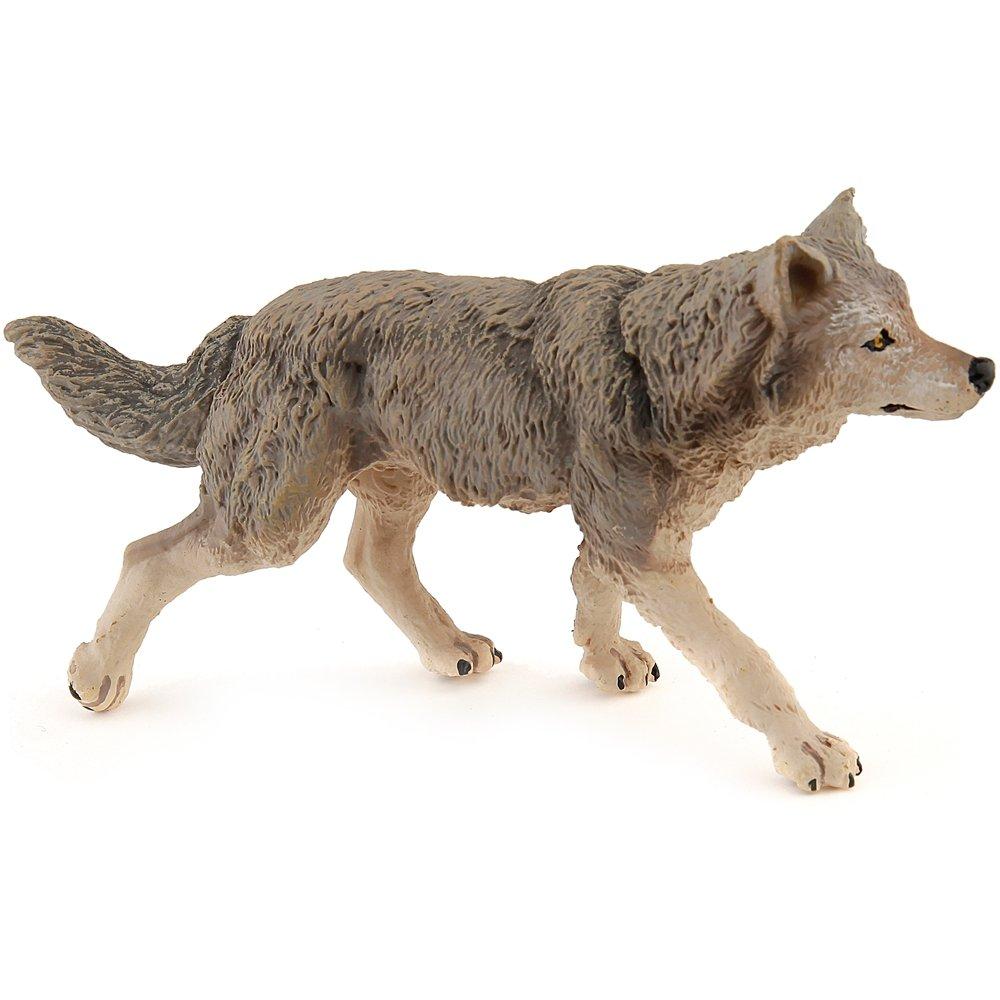 amazon com papo wild animal kingdom figure grey wolf toys games