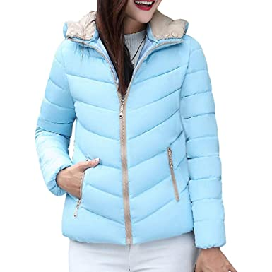 Sonnena Damen Warm Mantel Hoodie Wintermantel Winterjacke Dickere mit  Kapuze Slim Fit Outwear Parkajacke Zip Up 91e443187d