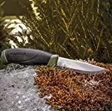 Morakniv-Companion-Fixed-Blade-Outdoor-Knife-with-Carbon-Steel-Blade-41-Inch-Military-Green