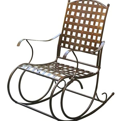 Tremendous Amazon Com Bs Antique Bronze Patio Rocking Chair Scoll Gamerscity Chair Design For Home Gamerscityorg
