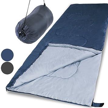 Jago SFS02-Grey rectangular obtundir saco de dormir gris: Amazon.es: Deportes y aire libre