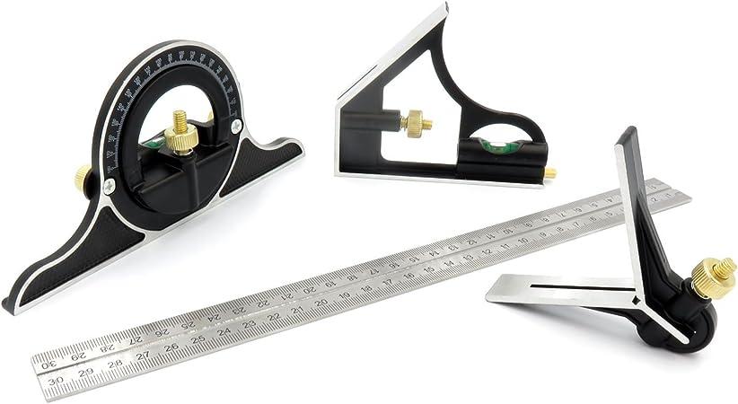 90 ° Combinaison Angle Carré Métrique viseur d/'angle et rapporteur règle niveau Outil