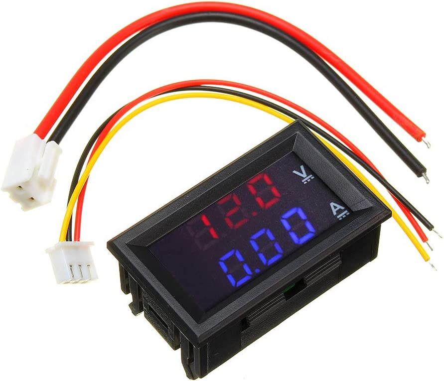 RUNCCI-YUN 5pcs Voltage Meter 2 Wire 0.28 Mini Digital Voltmeter Panel DC 2.5V-30V Two-Wire Voltage Tester Meter LED Display Red