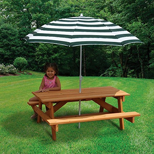 Gorilla 02-3003 Playsets Children's Picnic Table with Umbrella, Great for Picnic and Play Board Games, 300lbs. Weight Capacity by Gorilla (Image #2)