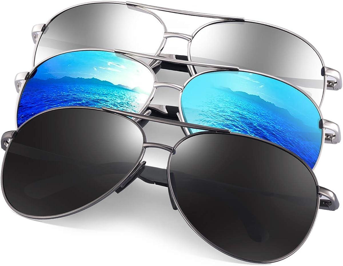 Polarized Aviator Sunglasses Mirrored Men Women Unisex Vintage Retro Pilot Glass