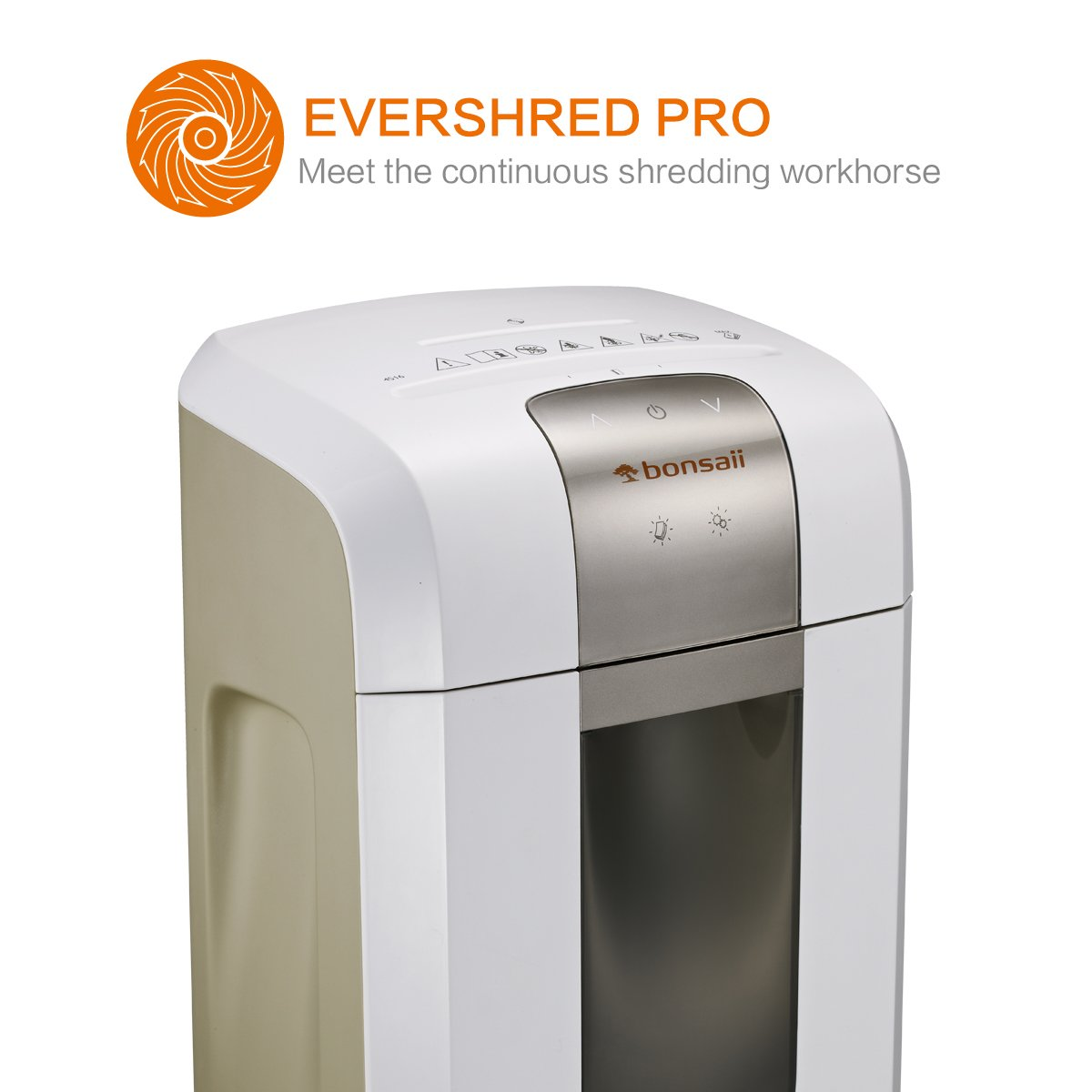 4S30 10-Sheet Micro cut with 7.9 Gallons Wasterbasket Bonsaii Paper Shredder 25//64 inches White 240 Minutes Continuous Shredding